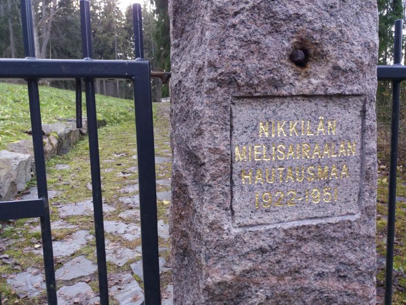 Retkivinkki: Nikkilän mielisairaala ja hautausmaa