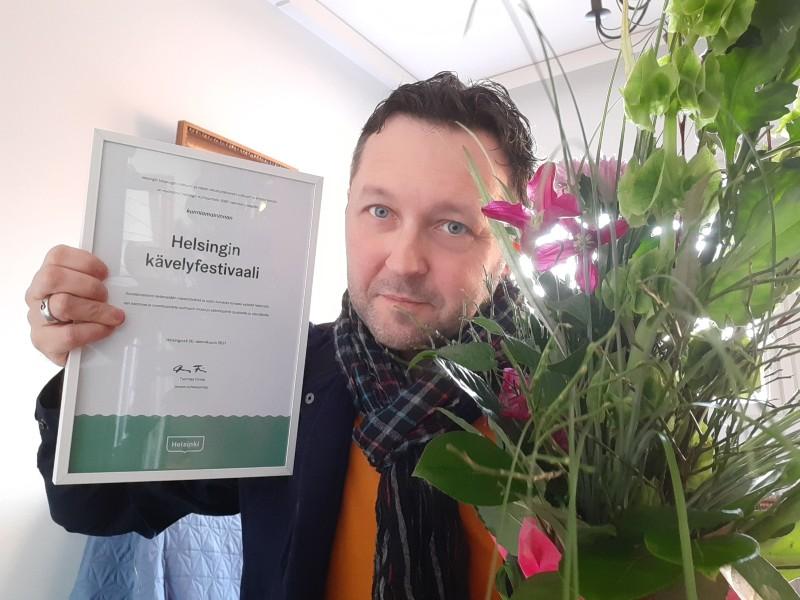 Helsingin kävelyfestivaalille Kulttuuriteko-kunniamaininta