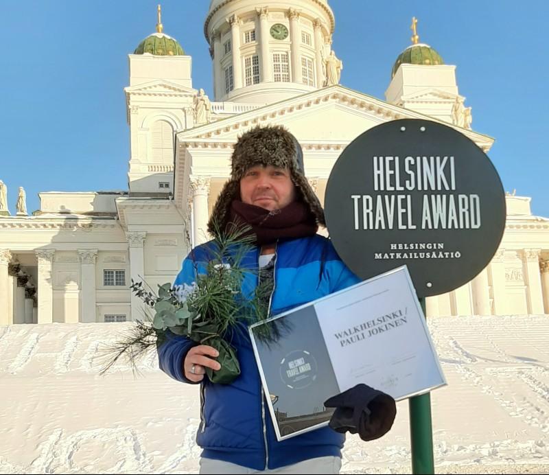 WalkHelsingille myönnettiin Helsinki Travel Award